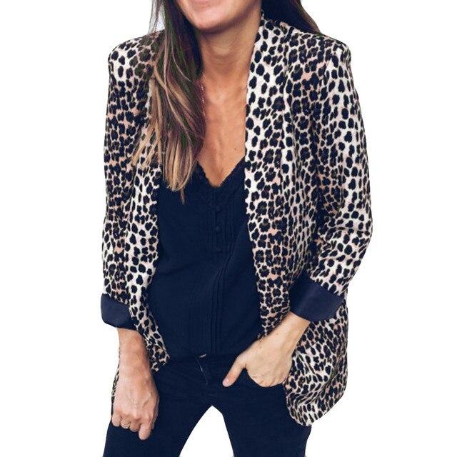 2018 New Casual Leopard Coat