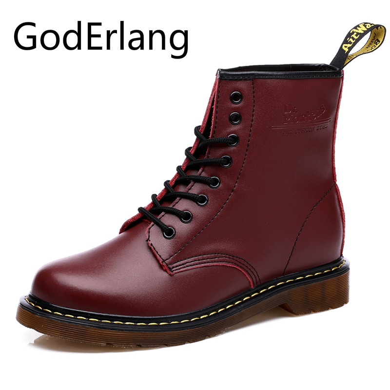 GodErlang Women Ankle Boots High Quality Women Boots Big Size 41 42 43 44 Outdoor Casual Cheap Boot Lover Autumn Shoes Black Red
