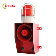TGSG-06C DC/AC24V-380V LED Warning Lamp 130dB Strobe Light with Siren Audible Visual Alarm Industrial Crane Emergency  Beacon