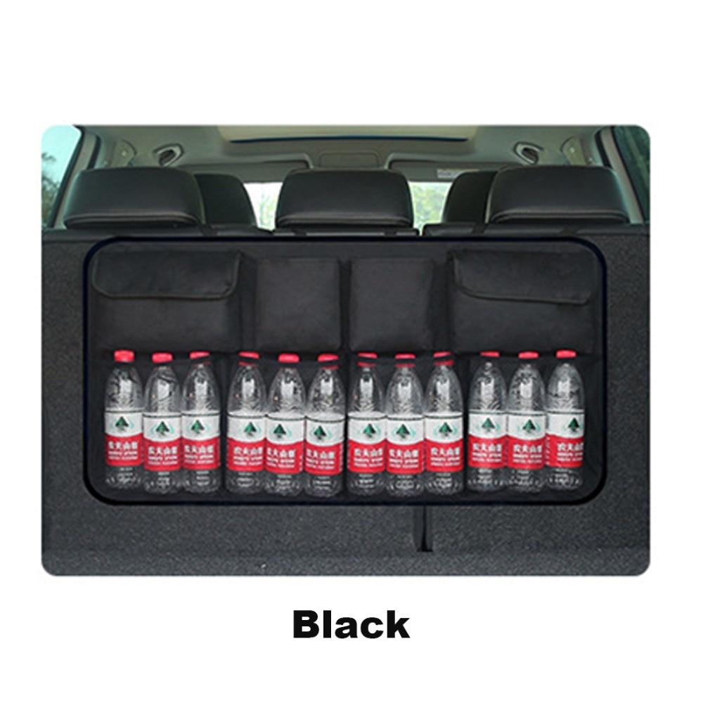 1PCS Quality Oxford Fabric Car Trunk Hanging Mesh Bag High Capacity Adjustable Net Organizer Backseat Storage Pocket