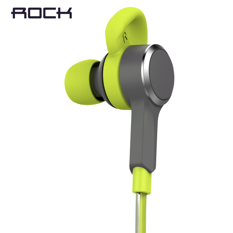 ROCK Mulu LED Flash Bluetooth Earphone 3 5mm Earbuds Sports MP3 Player In Ear Sports Bluetooth
