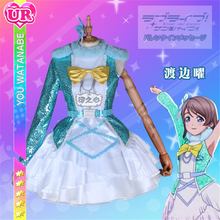 купить Anime Love Live Sunshine Aqours Watanabe You Christmas Eve Awaken the power Cosplay Costume women dress for Christmas costume A дешево