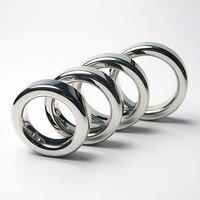 NOVA Penis Caralho Chastity Cockring Atraso Anéis de Metal Em Aço Inoxidável Anel Vibrador Sex Toys Para O Homem Bola Alongamento Cozinheiro Inteligente meia