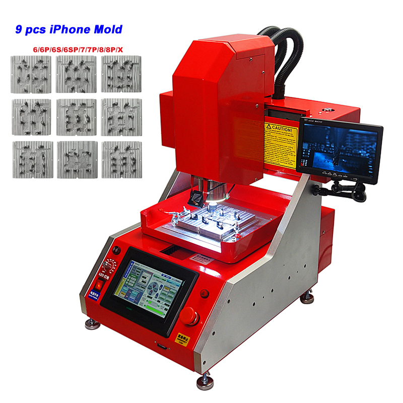 Auto CNC IPhone Repair Machine IC CNC Router Milling Machine For IPhone 6/6P/6S/6SP/7/7P/8/8P/X With Relative Files