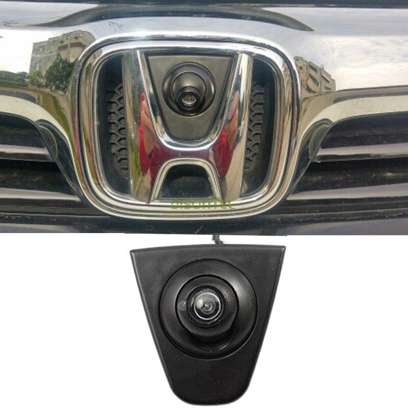 CCD A colori Del Veicolo logo marchio Emblema Anteriore della macchina fotografica per Honda XR-V Odyssey Nuovo accordo Civic CRV Spirior Crosstour Fit hatchback città
