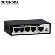 1+4 Port 10/100Mbps 48W Mini PoE Switch Power over Ethernet IEEE802.3af/at 48V PoE Switch for IP Cameras Wireless AP VoIP цена и фото