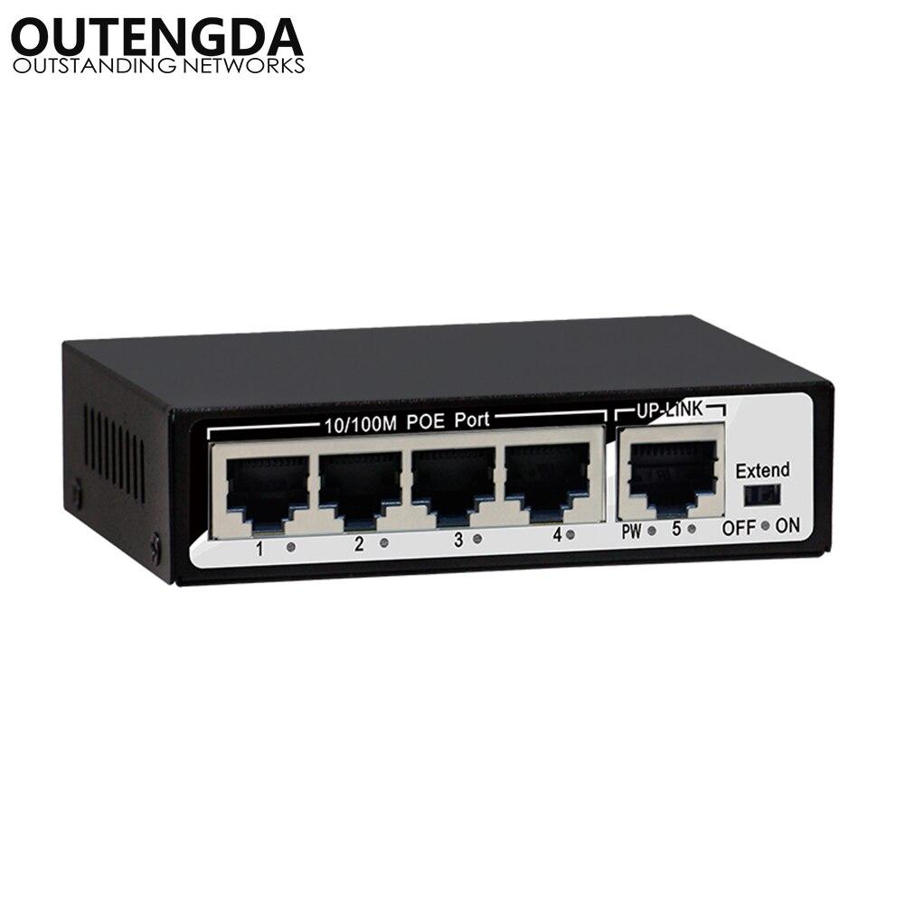 1 + 4 ports 10/100 Mbps 48 W Mini commutateur PoE alimentation sur Ethernet IEEE802.3af/à 48 V commutateur PoE pour caméras IP sans fil AP VoIP
