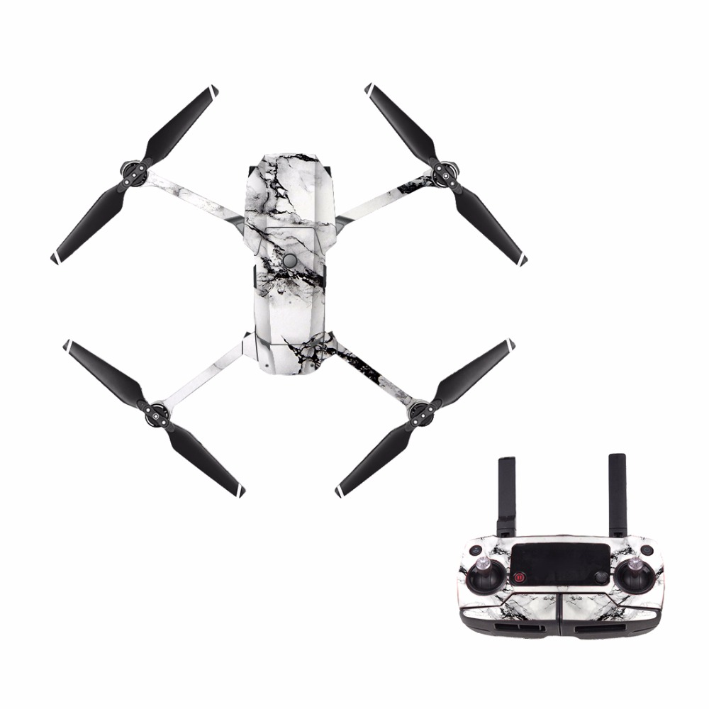 M0088 Crackle For Dji Mavic Pro Decal Skin Sticker Drone Body Remote Controller 3 Battery Protection Film Cover Camera Drone Decals Aliexpress
