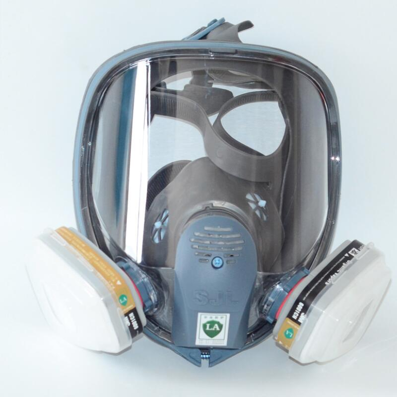 7 In 1 Painting Spraying Safety Respirator Gas Mask same For 3M 6800 Gas Mask Full Face Facepiece Respirator textured padded bikini