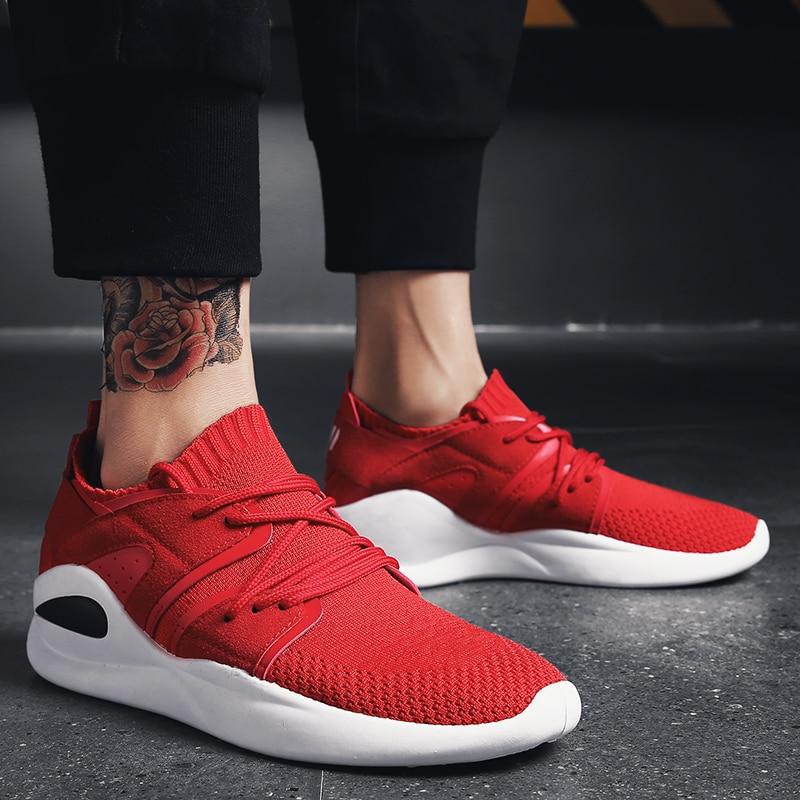 2018 Для мужчин Кроссовки Дышащие Беговые спортивная обувь Для мужчин легкие кроссовки Для мужчин тренажерный зал работает на шнуровке Уличн...