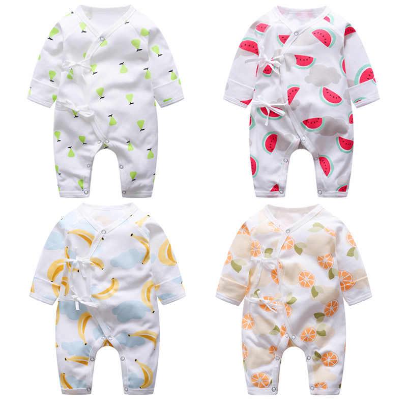 Комбинезоны для новорожденных мальчиков и девочек; хлопковый комбинезон с длинными рукавами; комплект осенней одежды для детей 0-9 месяцев