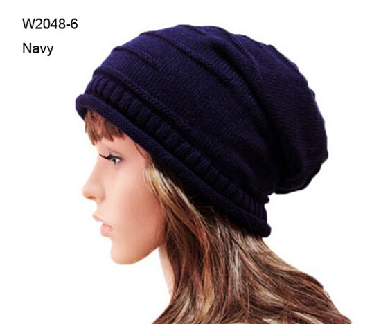 Wholesale 10pcs Classic Winter Mens Beanies Womens Acrylic Slouchy Beanie  Hat Men Large Oversized SKullcap Knitting Baggy Hats f047f8db918
