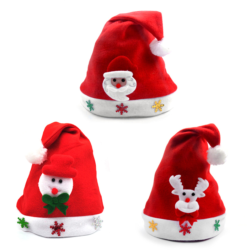 eb94042cdb9e7 5pcs Funny Kids Christmas Hat Santa Claus Snowman Elk Snowflakes Children Christmas  Hats Xmas Decoration Ornament Gift For Kids-in Christmas Hats from Home ...