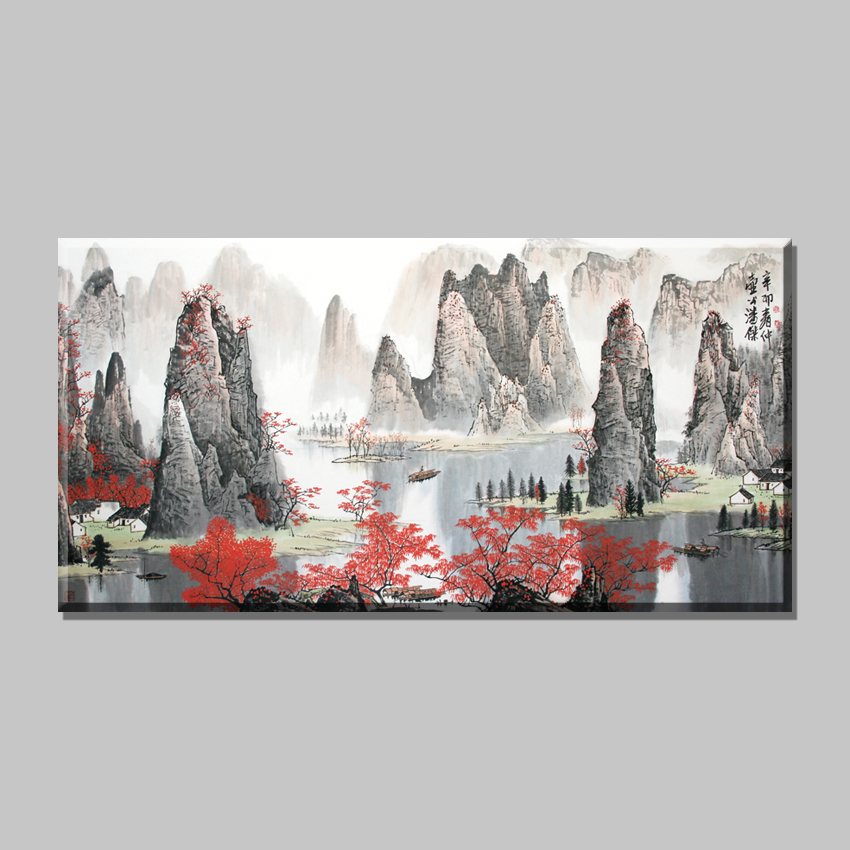 Online buy wholesale chinese boat painting from china for Buy cheap canvas art