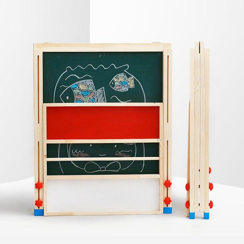 Tableau de peinture magnétique double face pour enfants, sans poussière, petit tableau noir pour enfants, tableau d'écriture pour chevalet d'enseignement à domicile