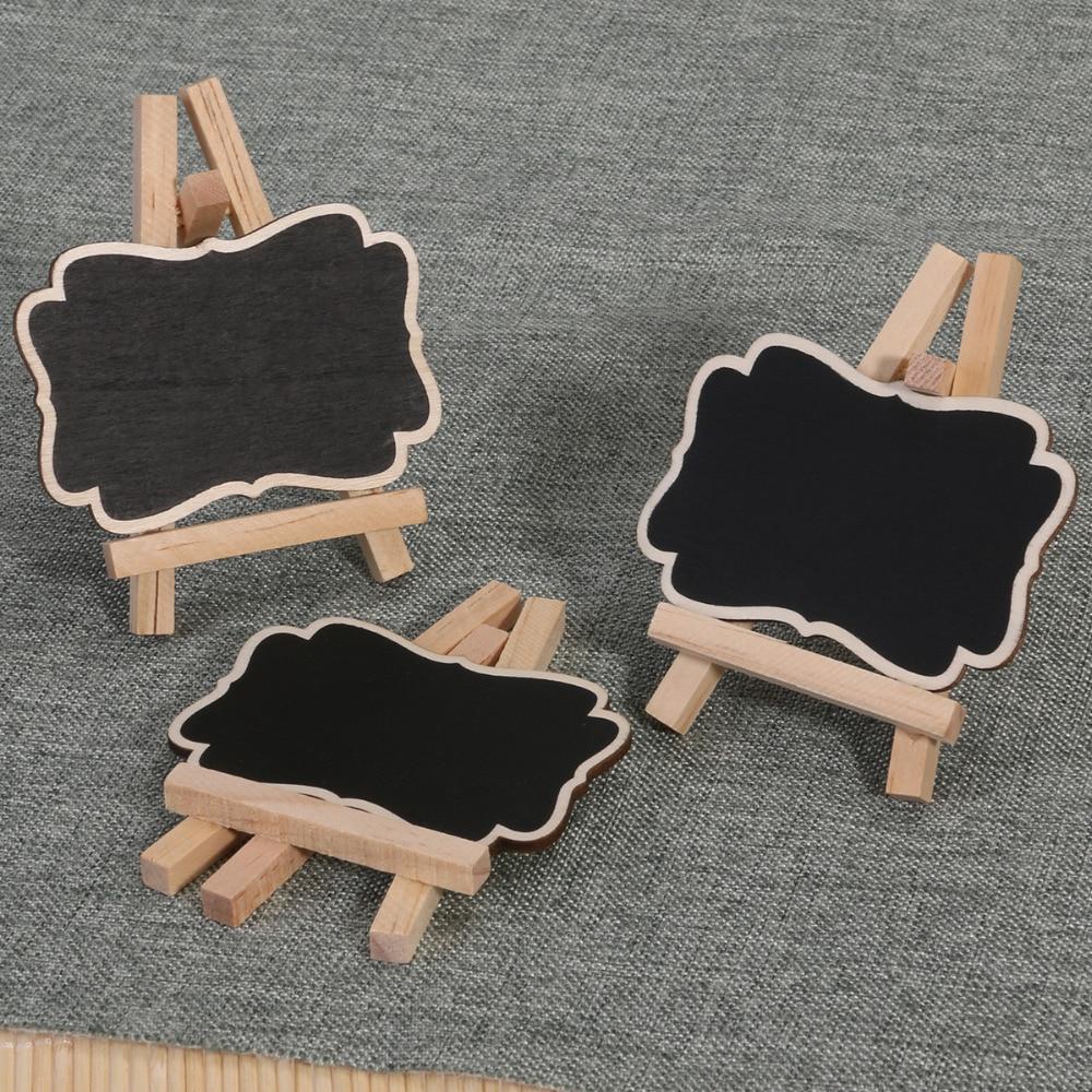 3 stücke Gerahmte Hölzerne Tafel Chalk Board Pegs, tafel Clips ...