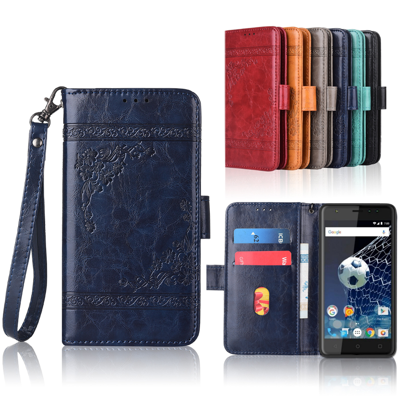 Newest Wallet case for Vertex Impress Game Flip case with Strap100% special  PU leather embossing flower cover case
