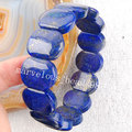 "Free shipping Fashion Jewelry A++ Natural Lapis Lazuli Beads Bracelet 7"" G0158"
