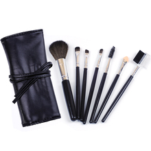 MECOLOR 7pcs Makeup Brushes set kits eyeshadow eyeliner eyebrow lip brush face blusher powder cosmetic foundation beauty tools lovely 10pcs soft purple hair makeup brushes set purple handle cosmetic foundation eyeshadow blusher powder brush beauty tools