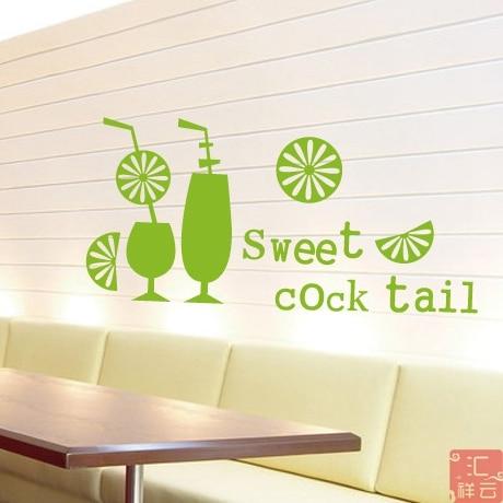 Cafe Restaurant dessert restaurant tea shop window stickers affixed ...