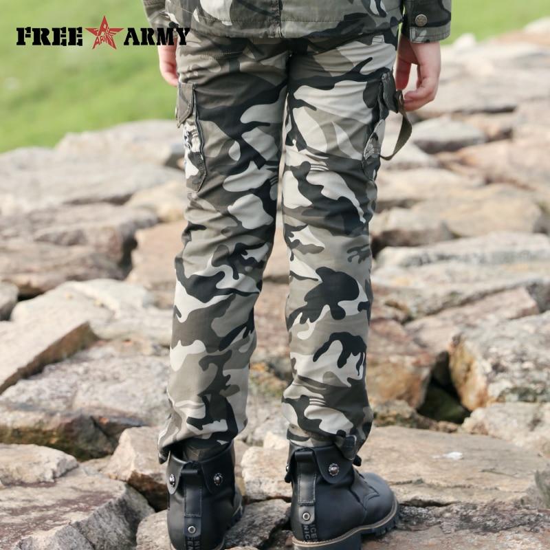 Bambini Mimetico Esercito Camouflage Militare Role-Play Dress Up Pantaloni