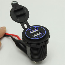 Universal 5V 2.1A/1A DC 12-32V Waterproof Car Charger for Vehicle Dual USB Charger 2 Ports Power Socket High Quality