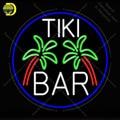 Неоновая вывеска для Tiki Bar  палмовое дерево  овальная с каймой  неоновые лампочки  вывески  лампа  стеклянная трубка  декор для комнаты  стены ...