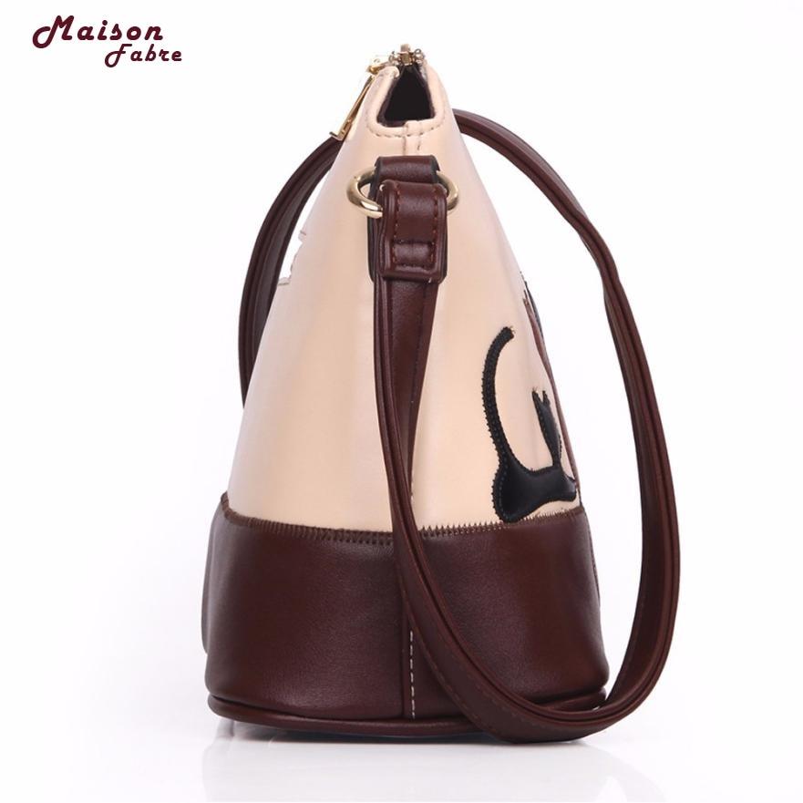 9ff2df149b61 Maison Fabre Fashion Women Cat Rabbit Leather Shoulder Bag Cross Body Purse  Handbag Messenger Bags Dropshipping Fre24