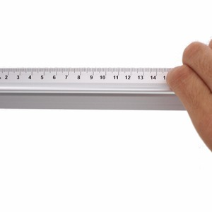 Image 5 - 40cm Metal Ruler with handle Straight Ruler Measure Tool