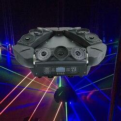 Profesional RGB láser araña luces cabeza móvil luz láser triángulo araña cabeza móvil DMX512 Control DJ etapa láser iluminación