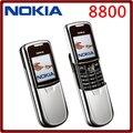 Original del teléfono nokia 8800 mobile inglés/teclado ruso gsm fm bluetooth del teléfono de oro plata negro garantía de un año