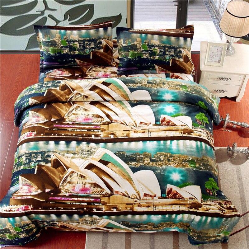 unidades del lecho juegos de cama de impresin d sydney opera house diseo de