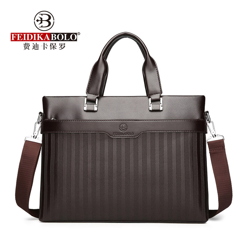 Fashion Business Computer Tote 2018 New Trends Embossed Briefcase Personality Large Capacity Shoulder Messenger Men Bag