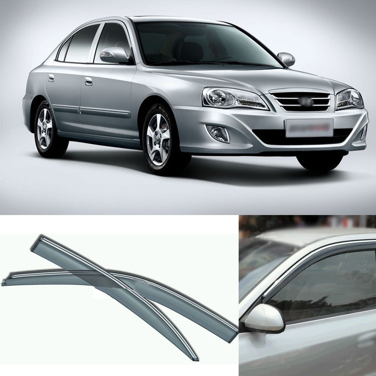 4pcs Blade Side Windows Deflectors Door Sun Visor Shield For Hyundai Elantra 2004-2013 4pcs blade side windows deflectors door sun visor shield for toyota verso ez 2011 2014