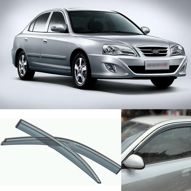 4pcs Blade Side Windows Deflectors Door Sun Visor Shield For Hyundai Elantra 2004-2013