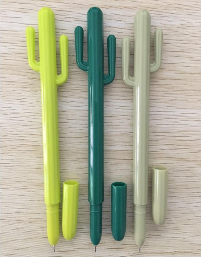 100 ピース/ロット、卸売、送料無料、サボテンスタイルゲルペン韓国文具かわいいビッグサイズクリエイティブスクールサプライ、 3 カラー  グループ上の オフィス用品 & 学用品 からの ボールペン の中 1