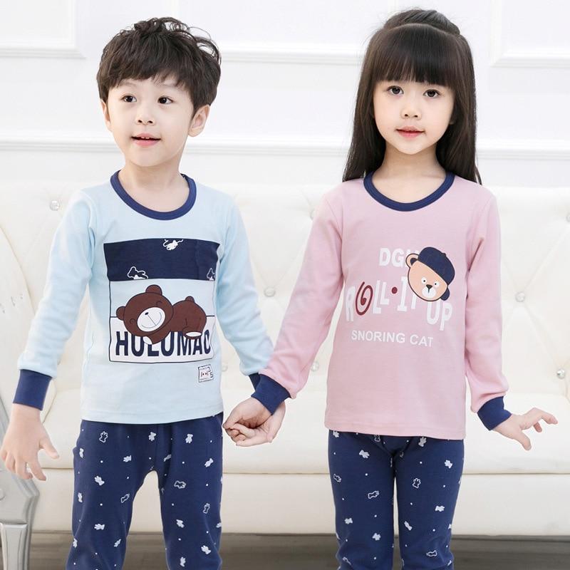 Enfants Vêtements Grands Garçons Filles Pyjamas Ensembles Unicornio Pyjamas Enfants vêtements de Nuit En Coton Homewear de Bande Dessinée Enfant Bébé Vêtements