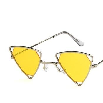 Yoovos 2019 New Punk Sunglasses Women Triangle Oculos New Vintage Glasses Openwork Metal Frame Fashion Sun Glasses Men Okulary 13