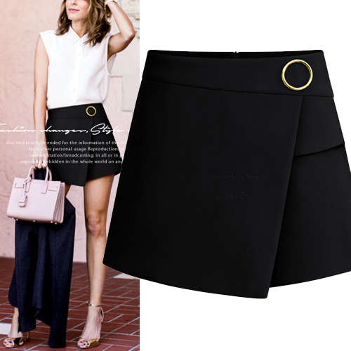 black formal shorts womens