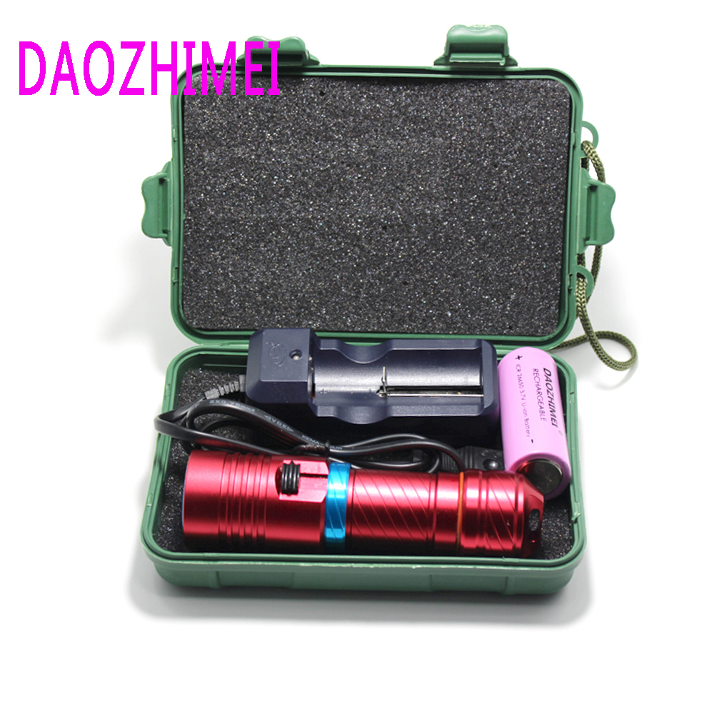 Underwater Diving diver Flashlight Torch XM-L2 Led 18650 or 26650 Light Lamp Waterproof 18650 rechargeable battery light