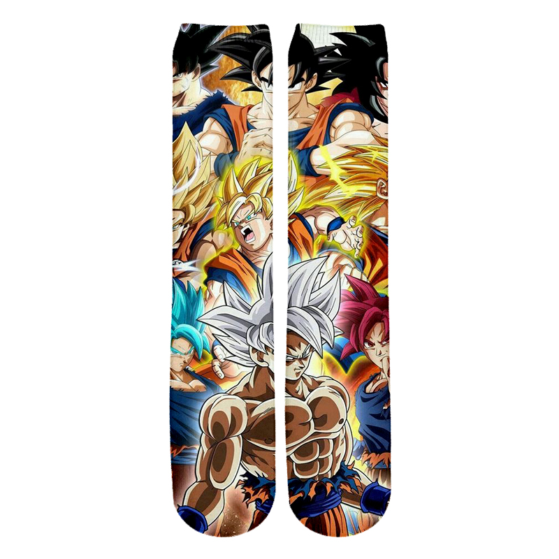 Modis Anime Dragon Ball Z Son Goku/Son Gohan/Vegeta Cotton Socks Colorful Stockings Warm Tights Cartoon Fashion Gifts -2