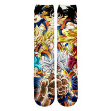 Modis Anime Dragón Ball Z Son Goku/Son Gohan/Vegeta calcetines de algodón coloridos medias cálidas dibujos animados moda regalos-2(China)