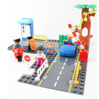 Large Particle Building Blocks City Community Diy Set Base Plates Bus Car Tree House Fire Toys Compatible With Legoingly Duploe