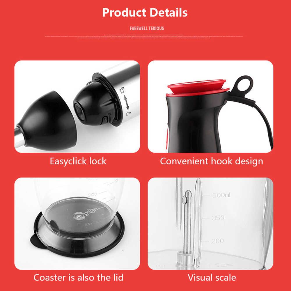 Hand Blender Seamoy 4 em 1 Portátil Liquidificador de Imersão para Cozinha Processador de Alimentos Vara Com Chopper Batedor Misturador Espremedor Elétrico
