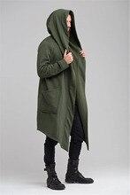 Casaco de trincheira dos homens casaco de trincheira primavera outono trench cardigan do punk coreano