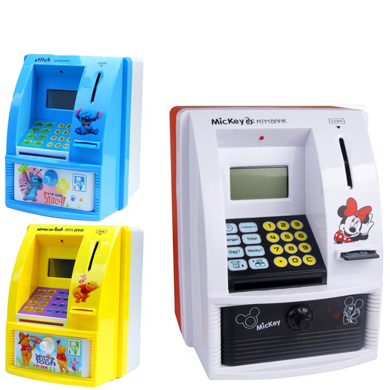 Digital ATM Saving Machine With Electronic Coin Counter Personal Card