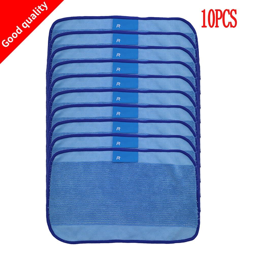 10pcs High Quality Wet Microfiber Mopping Cloths For IRobot Braava 321 380 320 380t Mint 5200C 5200 4200 4205 Robot
