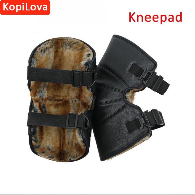 KopiLova Winter Outdoor Cold-proof Short Kneepads Keep Warm Motorcycle Kneepads Sport Tactical Protection Knee Protector