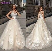 Robe de mariee New arrival Lace Luxury Wedding Dresses 2019 Beaded Wedding Gowns Weding Bridal Bride Dresses Vestige De Noiva