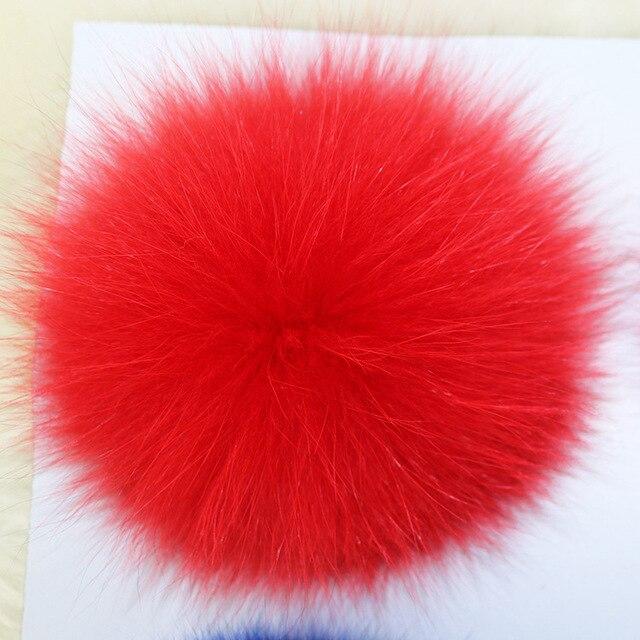 Big 12cm Trinket Keychain Pompons Keychains(no chain) Fox Fur Charms Keychain Fluffy Ball For DIY Trinkets Pom Pom Keychain